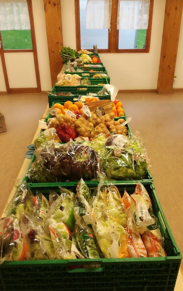 Gemüse, Fleisch, Süsses, Backwaren, alles was das Herz begehrt